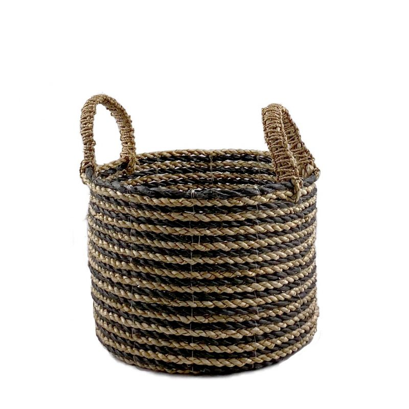 Midi Black Stripe Basket