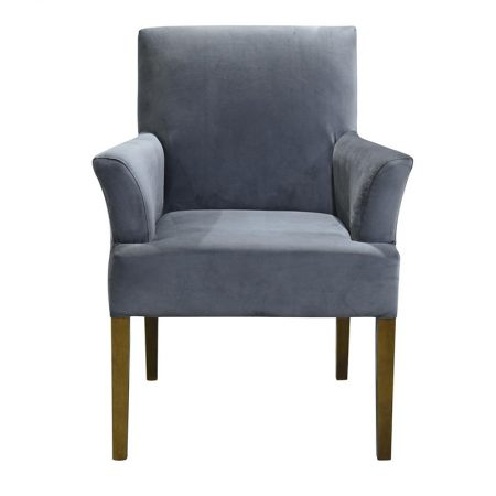 Arizona armchair velvet steel