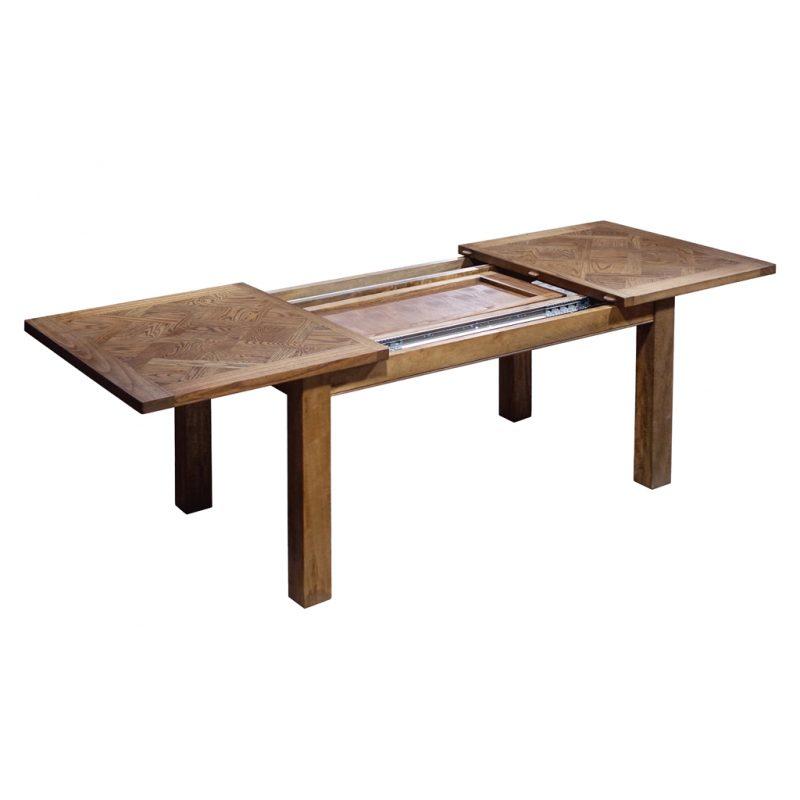 Bellagio-Oak-Extension-Table-Open