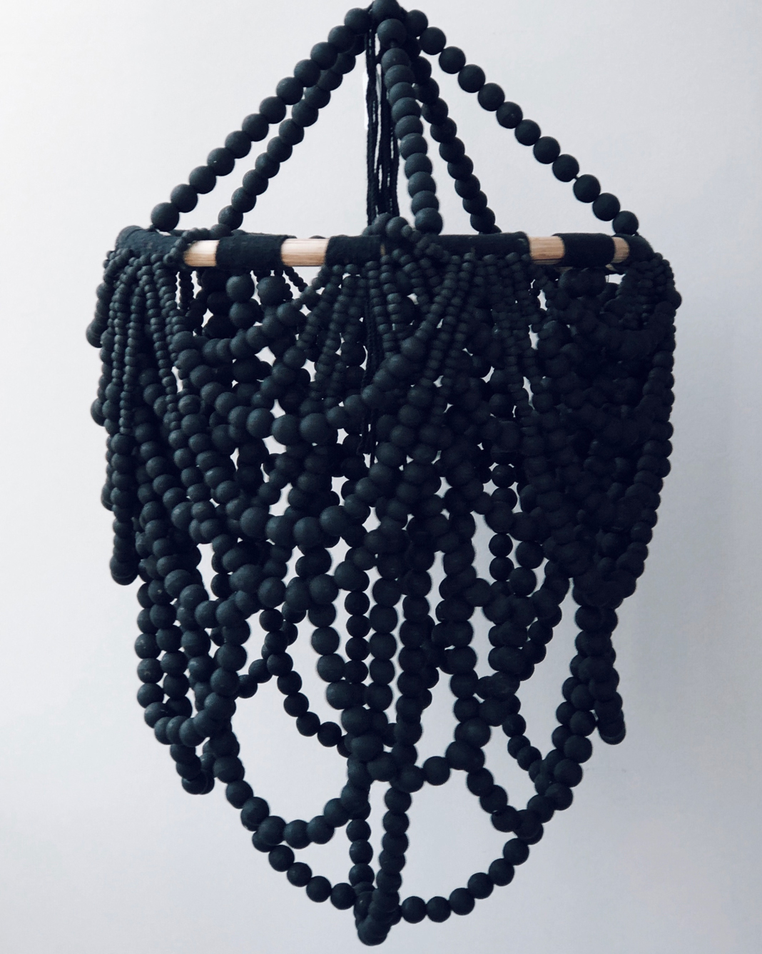 Black Beaded Pendant