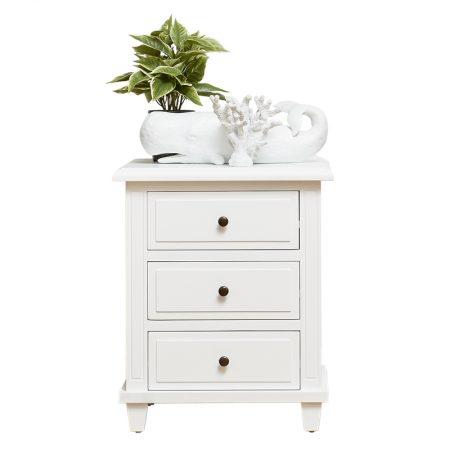 Capri 3 drawer bedside