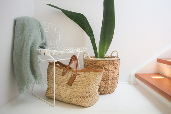 Seagrass baskets pot plant holder
