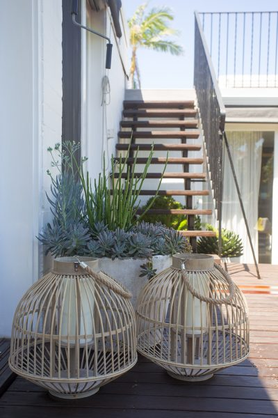 Coastal decor hanging lanterns