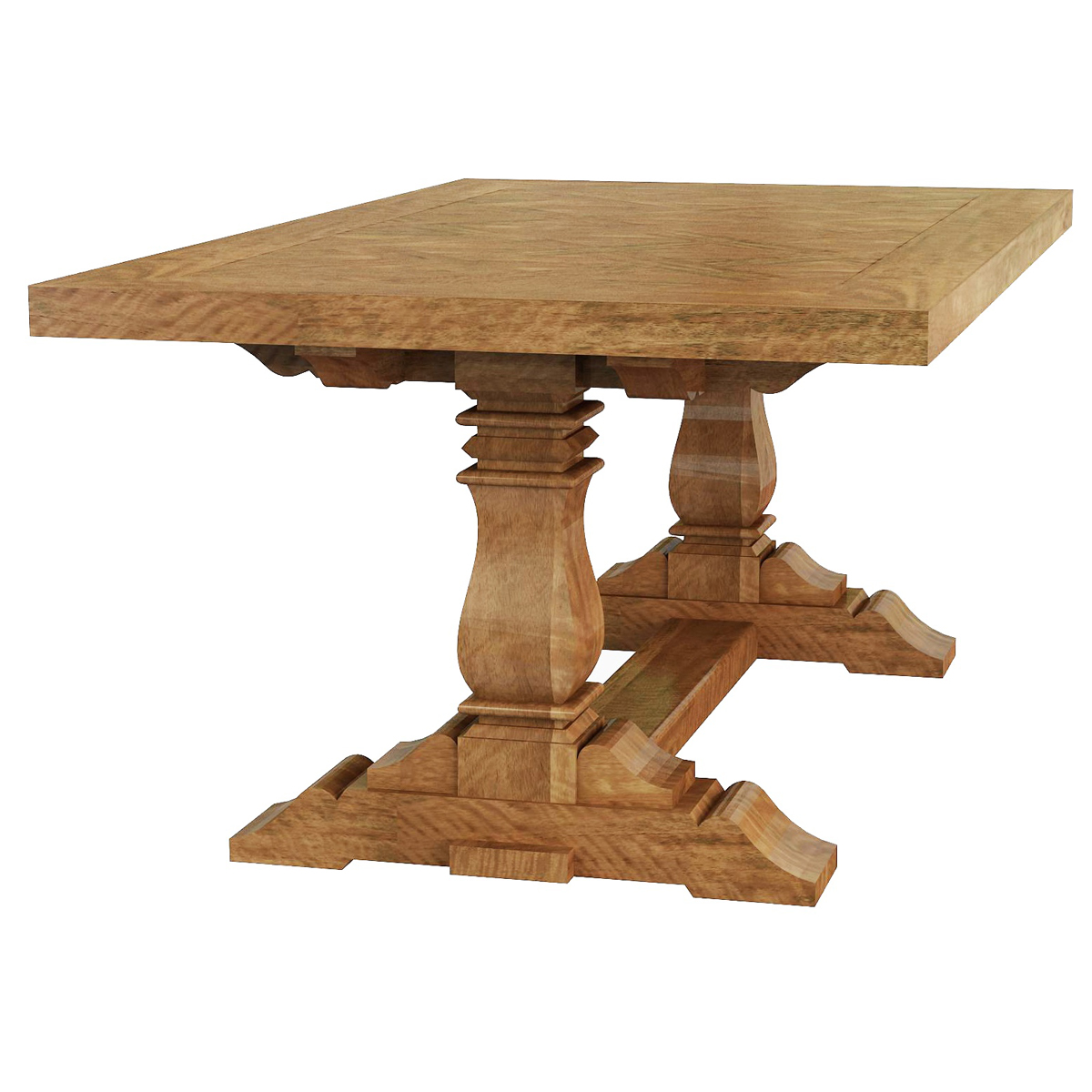 French Stamped Mango Coffee Table: Pedestal Coffee Table » Shack Homewares
