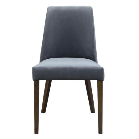 Hamilton dining chair velvet steel