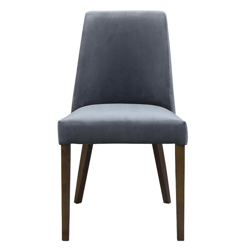 Hamilton dining chair velvet steel