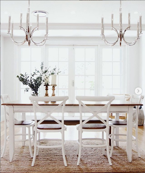 Hamptons Dining Table Cafe Chairs
