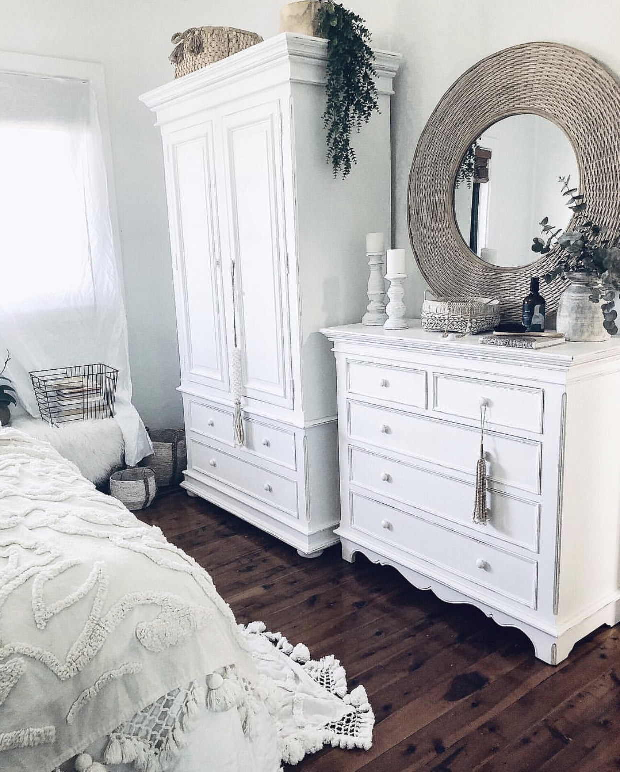 Harmonie Armoire & 5 Drawer Chest