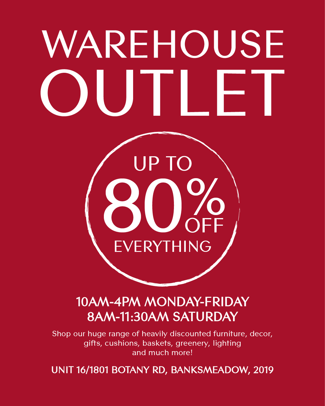 Warehouse Outlet Banner