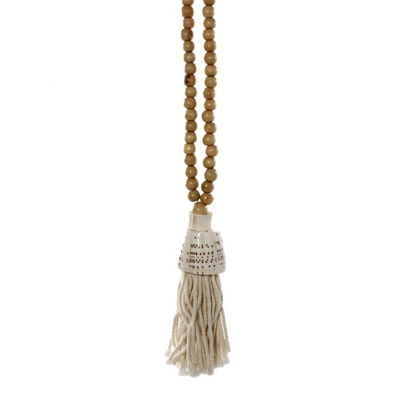 Beads with Shell Tassel