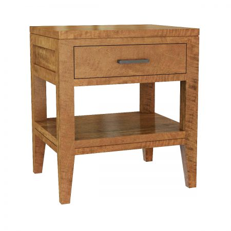 New York open shelf bedside table