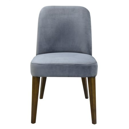 New York Dining Chair Steel Velvet