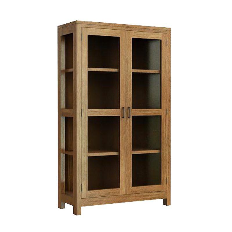 New York 2 door glass cabinet