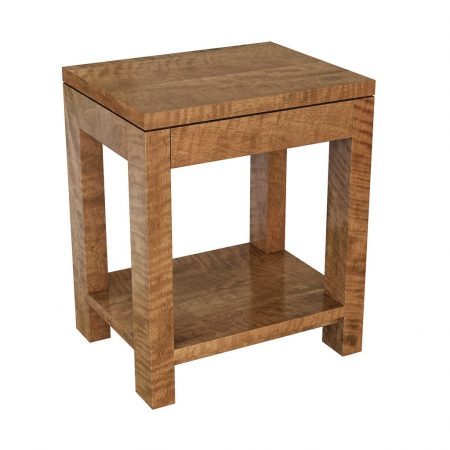 New York side table with shelf