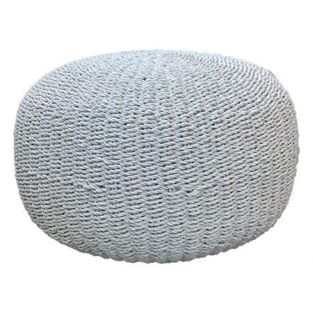 Ottoman-Round-White