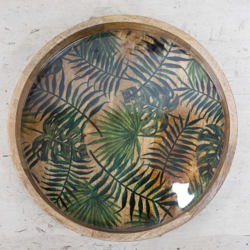 WD-2604-B-Tropical-Leaf-Tray-Round-2