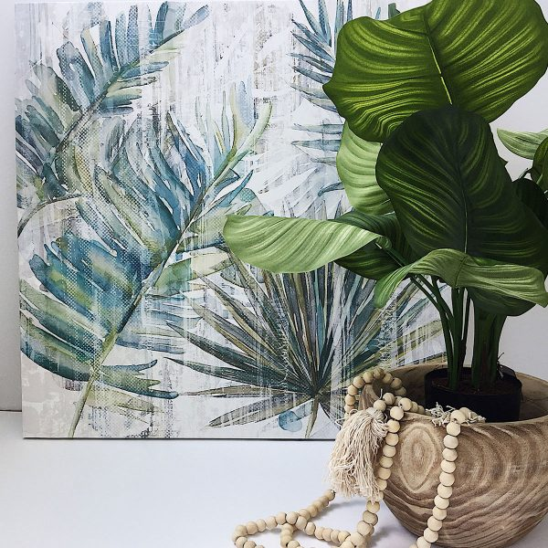 Wall Art Mixed Tropical Leaves $130