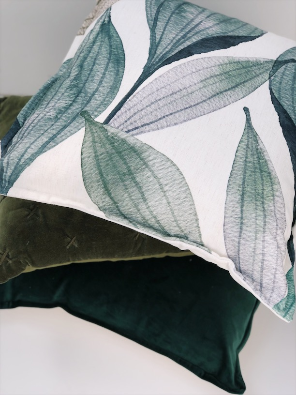 autumn trends colours greens cushions
