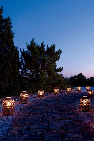 Lantern candle holders for night time ambience
