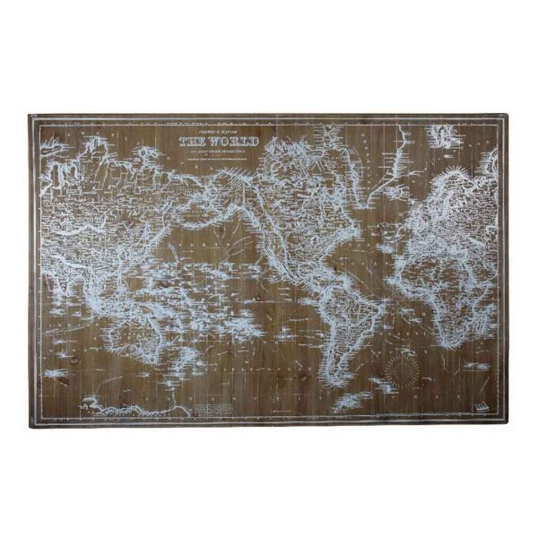 Vintage World Map $230